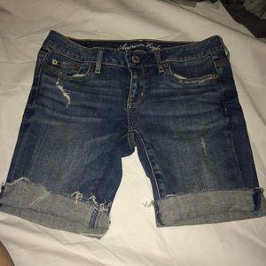 American Eagle jean distressed Bermuda shorts